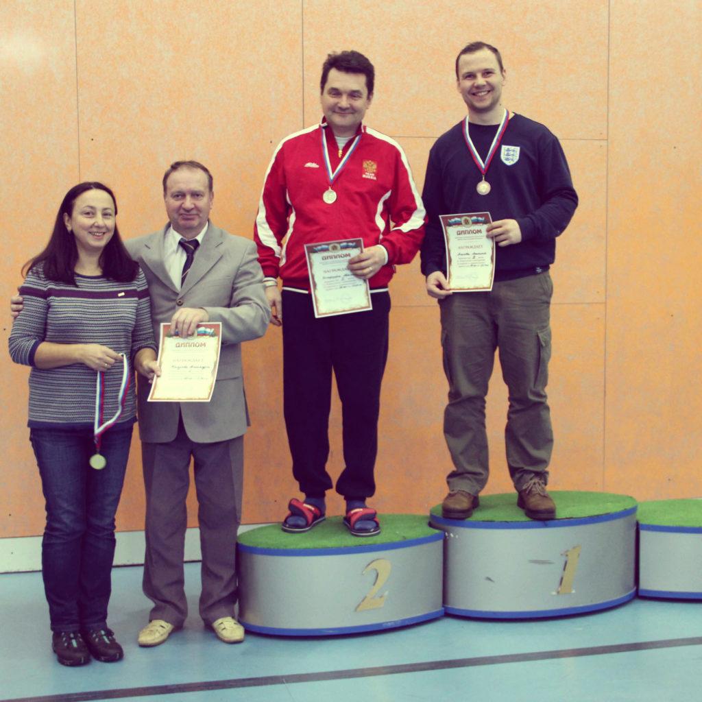 Награждение спортсмена стрелкового клуба Измайлово на всероссийских соревнованиях