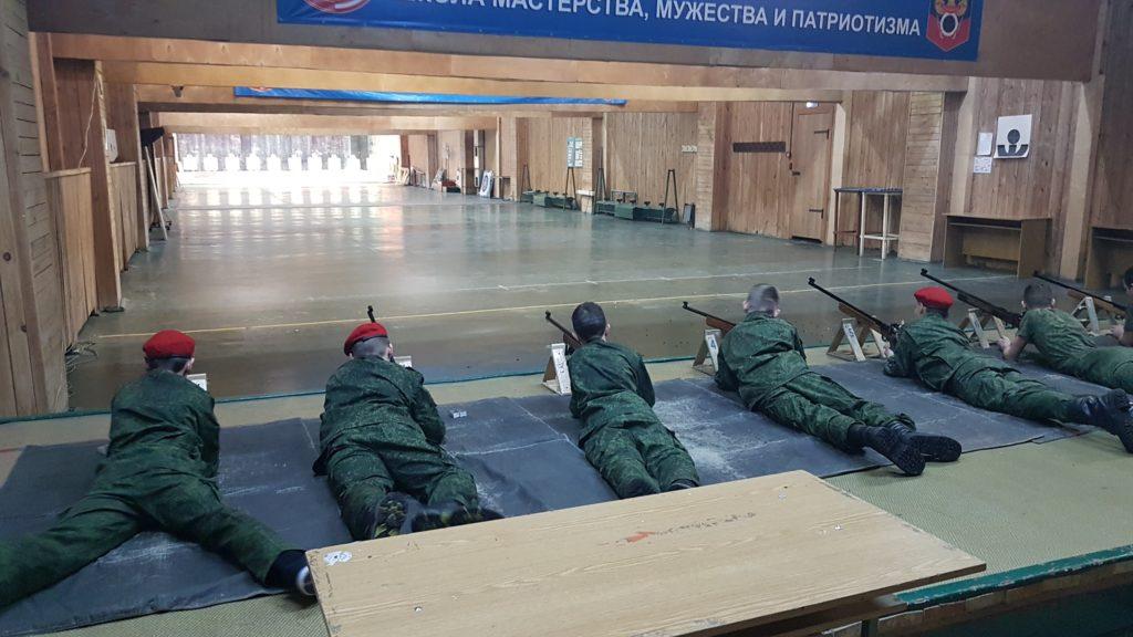 Юнармия стреляет в тире Измайлово г.Москвы